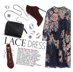 """lace dress"" by primestylecom ❤ liked on Polyvore featuring Biyan and Gianvito Rossi"