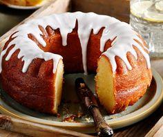 Κέικ λεμόνι με σιρόπι   Συνταγή   Argiro.gr Food Categories, Deserts, Muffin, Breakfast, Cake, Sweet, Recipes, Backgrounds, Morning Coffee