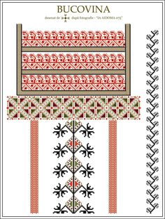 Semne Cusute: IA AIDOMA 075 - Bucovina, ROMANIA Simple Cross Stitch, Cross Stitch Borders, Cross Stitching, Cross Stitch Patterns, Embroidery Online, Embroidery Neck Designs, Embroidery Motifs, Palestinian Embroidery, Pattern Books