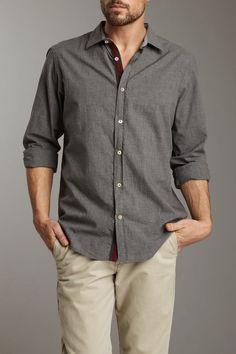 Shirt by Shirt  Grey Melvin Woven Shirt