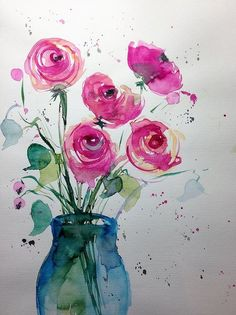 Flower Painting Art Print featuring the painting red Roses by Britta Zehm