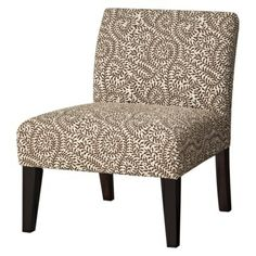 Armless accent chair for living room, might work with the right throw pillow - Target $130