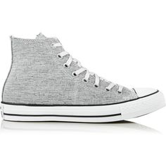 Converse Chuck Taylor All Star Hi Top Sparkle Knit Trainers ($73) ❤ liked on Polyvore featuring shoes, sneakers, multi, converse trainers, star sneakers, sparkly shoes, high top shoes and high top trainers