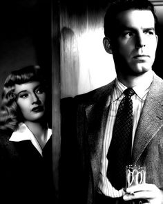 Barbara Stanwyck and Fred MacMurray in Double Indemnity. Classic Noir. So much better than asian movie nowadays...