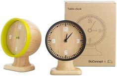 'Smartville Clock' rubber wood - BoConcept