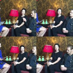 """Italian Outlanders on Instagram: """"#SamHeughan and #CaitrionaBalfe are live now on ET Entertainment Facebook . #Outlander #OutlanderStarz #OutlanderSeries #OutlanderSeason2 #JamieFraser #ClaireFraser"""""""