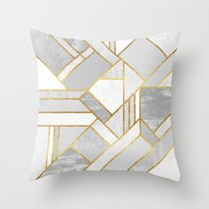Gold+City+Throw+Pillow+by+Elisabeth+Fredriksson+-+$20.00