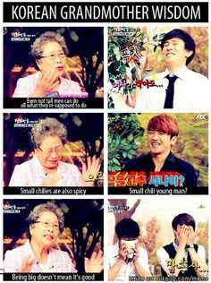 Shinhwa and the Korean Grandmother wisdom xD Shinhwa Members, Shin Hye Sung, Lee Min Woo, Eric Mun, Nct Taeil, Kim Dong, My Mood, Kpop Groups, Funny Moments