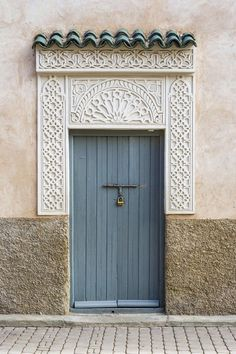 Decorative doorway in the medina (old town). Decorative doorway in the medina (old town) Wall Art by Jason Langley from Great BIG Canvas. Rustic Italian, Italian Home, Islamic Architecture, Facade Architecture, Morrocan Architecture, Landscape Architecture Model, Riad Fes, Door Design, House Design
