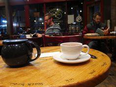 Hanging out at Coal Creek Coffee, Laramie Wyoming