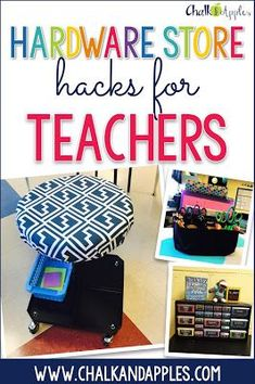 3 hardware store finds you can easily repurpose to organize & use in your classroom