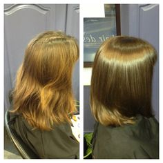 Before and after using Wella Illumina colour.. Amazing colour and Shine!!