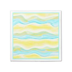 Bright Artistic Abstract Retro Cool Wave Pattern Napkin - retro gifts style cyo diy special idea