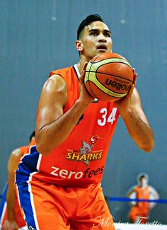 Southland Sharks Tai Wesley in the game against Manawatu Jets at Stadium Southland.  June 07, 2014.   Sharks won 91-83.