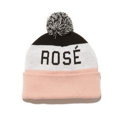 Stay warm and cozé in our new two-sided pom pom beanie hat. Either way you wear it the message is loud and proud: Yes Way Rosé!