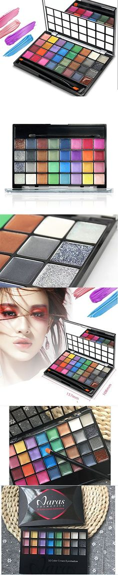 FantasyDay Pro 32 Colors Eyeshadow Makeup Palette Cosemetic Contouring Kit - Ideal for Professional and Daily Use Best Eyeshadow Palette, Makeup Palette, Eyeshadow Makeup, Dark Colors, Light Colors, Contour Kit, Contouring, Good Skin, Makeup Yourself
