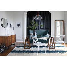 reverb blue-green rug  | CB2