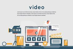 Video marketing. Man record video. by Podis on @creativemarket