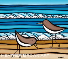 Sea birds by Heather Brown