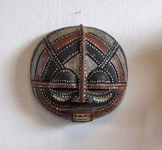 Vintage Ivory Coast African Mask, Ghana, Bakoth $175