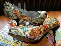 Make your own Comic Book Shoes!