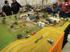 Pictures from the 2012 National Farm Toy Show held in Dyersville, Iowa. John Deere Toys, Cardboard City, Farm Village, Model Village, Farm Images, Farm Layout, Toy Display, Farm Toys, Mini Farm