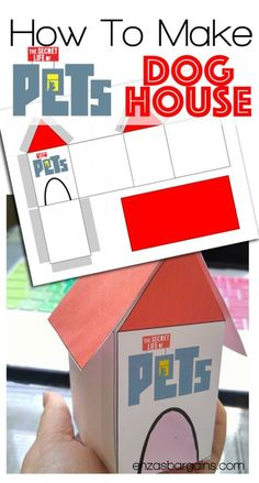 The Secret Life of Pets Craft – Dog House Free Printable - Projects to try - French Party Printables, Free Printables, Pets Movie, Secret Life Of Pets, Puppy Party, Baby Party, Animal Birthday, Pet Life, Animal Crafts
