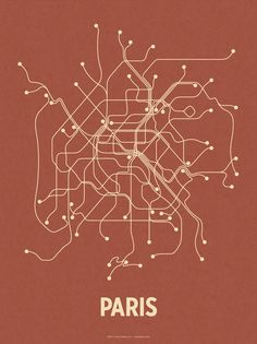 paris--failure as a map, absolute beauty as virtually any other type of print.