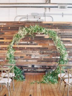 Greenery Floral Arch, White and Rose Indoor Wedding Ideas by Allen Tsai Photography