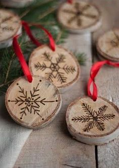 wood disk holiday - Google Search