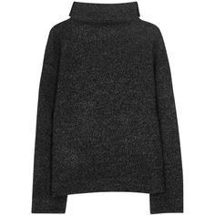 Isabel Marant Étoile Dypton Anthracite Roll-neck Jumper (£74) ❤ liked on Polyvore featuring tops, sweaters, jumper, rollneck sweaters, drop shoulder sweater, roll neck jumper, jumper top and drop-shoulder tops