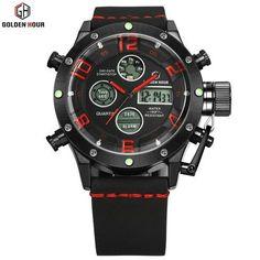 Top Brand Luxury Fashion Men Watches Men's Quartz Hour Clock Analog Digital LED Waterproof Sports Military Wrist Watch