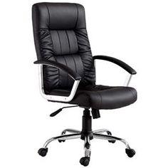 Cadeira Office Finlandek Presidente Plus com Função Relax e Regulagem de Altura