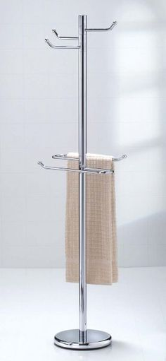 Tall robe and towel bathroom valet in free standing towel - Free standing bathroom towel rack ...
