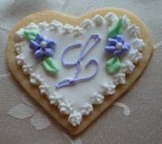 Hand Iced Sugar Cookies | Heart shaped hand-decorated sugar cookie by CreativeChaosinCT, $120.00 ...