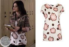 Shop Your Tv: Pretty Little Liars 4x01 Aria Rose Print Top #Topshop #PrettyLittleLiars