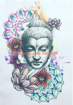 buddha tattoo design mandala