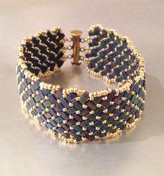 Basketweave Beaded Bracelet by JujensoDesigns on Etsy https://www.etsy.com/listing/213460289/basketweave-beaded-bracelet