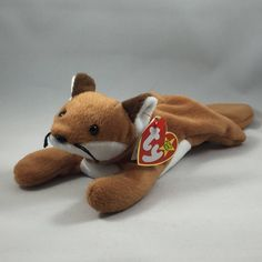 010fdf1727d Sly the Fox Plush Style 4115 TY Beanie Baby Stuffed Vintage Toy Ty Beanie