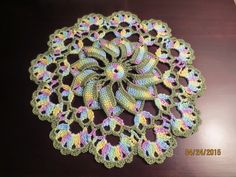 Today I have a fun little pattern for you. The Pretty Pinwheel Doily is small and works up quickly, but the pinwheel gives it an unusual a...