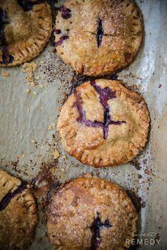 chocolatecakezone:  Blueberry Sage Hand PiessourceMore cake...