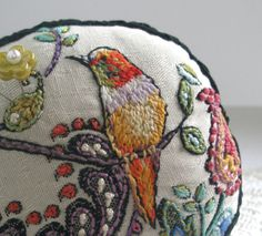 ♒ Enchanting Embroidery ♒ embroidered bird | fiberluscious