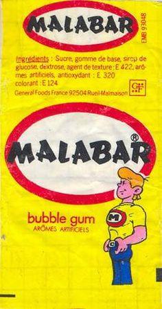 le malabar, tout rose, avec lequel on faisait des bulles à 20 centimes de franc