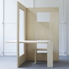 Arquitectura Arkinetia Blog: Escritorio plegable de madera - Kapteinbolt