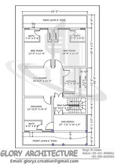 30 feet by 60 feet house map plan 1 pinterest for 35x60 house plans