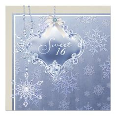 Ivory Blue White Snowflake Sweet Sixteen Birthday Invitation online after you search a lot for where to buyDeals Ivory Blue White Snowflake Sweet Sixteen Birthday Invitation Here a great deal. Winter Birthday Themes, Winter Theme, 4th Birthday, Baby Shower Invitations For Boys, Birthday Party Invitations, White Snowflake, Snowflakes, Snowflake Baby Shower, Sweet 16 Gifts