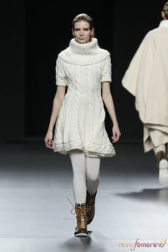 knitted dress with cables