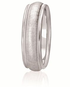 Classic Domed Milgrain Wedding Band