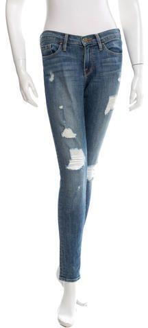 Frame Denim Distressed Skinny Jeans Denim Skinny Jeans, Distressed Skinny Jeans, Frame Denim, Stylish, Pants, Tops, Women, Fashion, Trouser Pants