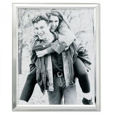 """Lawrence Frames 8"""" x 10"""" Picture Frame in Brushed Satin Silver Plated - 750180"""